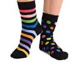 playful mismatched socks